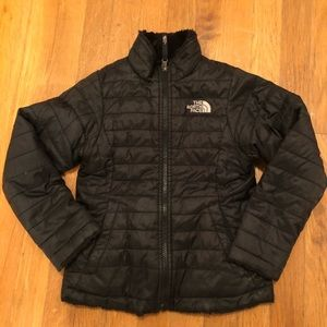 The north face girls size 6 xs Reversible coat